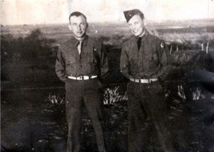 Johnny and Cliff Pierce in Service
