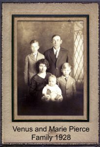 Venus and Marie Pierce Family 1928