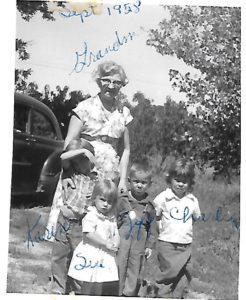 Marie and grandchildren Karen Susan Charline Jeff