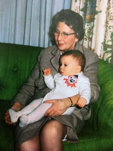 Catherine Hughes Pierce w grandson Phillip Walker